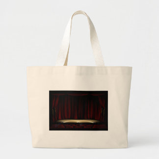 Theatre Stage with Theater Curtains Large Tote Bag