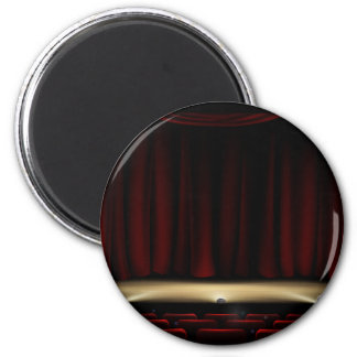 Theatre Stage with Theater Curtains Magnet