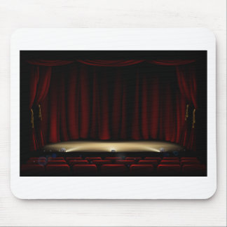 Theatre Stage with Theater Curtains Mouse Pad