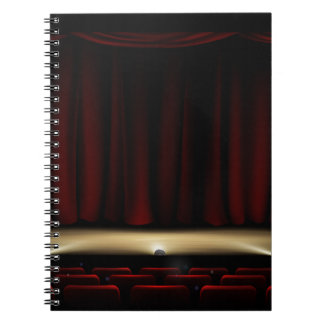 Theatre Stage with Theater Curtains Notebook