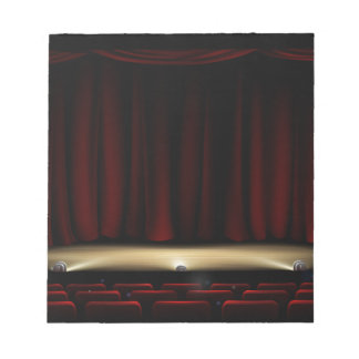 Theatre Stage with Theater Curtains Notepad