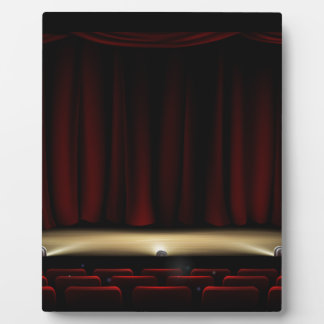 Theatre Stage with Theater Curtains Plaque