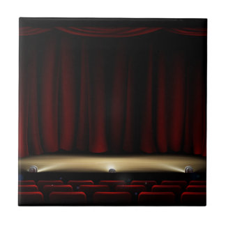 Theatre Stage with Theater Curtains Tile