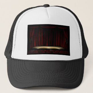 Theatre Stage with Theater Curtains Trucker Hat