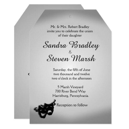 Theatre Wedding Invitation