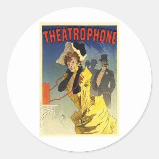 Theatrophone Classic Round Sticker
