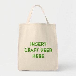 TheBEERSgoneBAD: Craft Beer Grocery Tote Canvas Bags