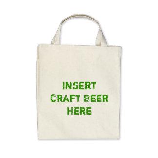 TheBEERSgoneBAD Craft Beer Grocery Tote Canvas Bags