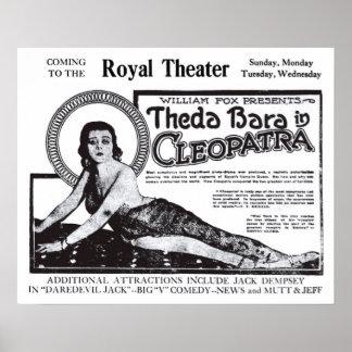 Theda Bara 1920 vintage movie ad poster