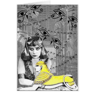 Theda Bara Collage Design Card