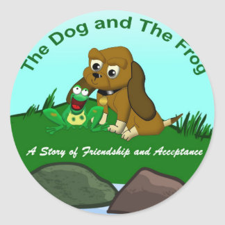 TheDogAndTheFrog.com Cartoon Story Gifts Classic Round Sticker