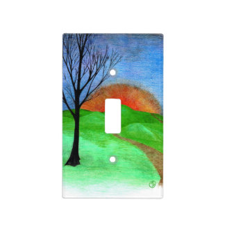 """""""Thee Hills"""" Light Switch Cover"""