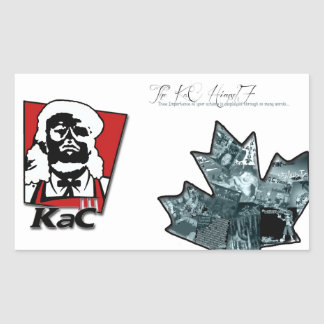 Thee Importance + KaC KFC Stickers (larger)
