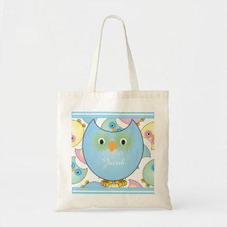Thème en pastel de crèche de hibou pour le bébé sac en toile budget