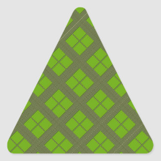 Theme GREEN Shades : Diamond Windows Triangle Sticker