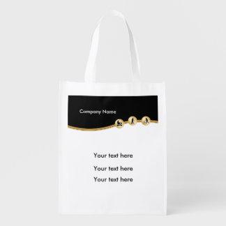 Thème médical d'handicap sacs d'épicerie réutilisables