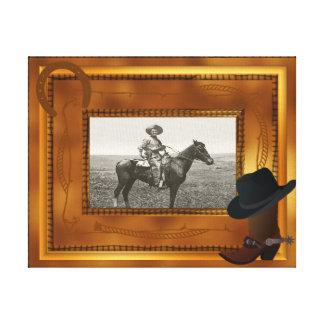 Thème occidental avec le modèle photo de botte et toiles