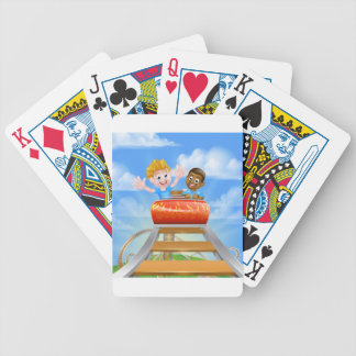 Theme Park Roller Coaster Poker Deck