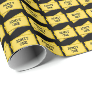 Themed Movie tocket pattern wrapping paper