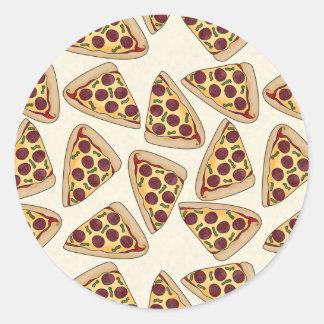 Themed pizza party pattern sticker