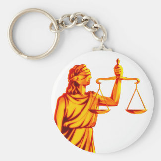 Themis Scales of Justice Keychain