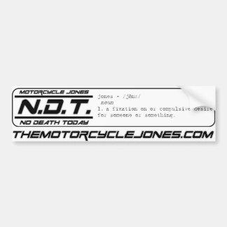 TheMotorcycle.com™/No Death Today™-Bumper Sticker Car Bumper Sticker
