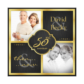 Then and Now 50th Wedding Anniversary 2015 Canvas Print