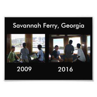 Then and Now - Savannah Ferry, GA Art Photo