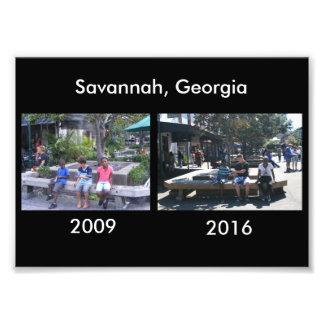 Then and Now - Savannah, GA Photograph