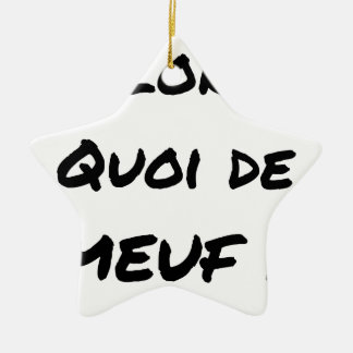 THEN, WHAT OF GIRL? - Word games Ceramic Ornament