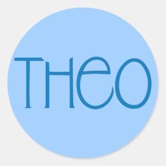 Theo blue Sticker