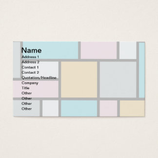 Theo Van Doesburg - Composition 17 - Mondrian Art Business Card