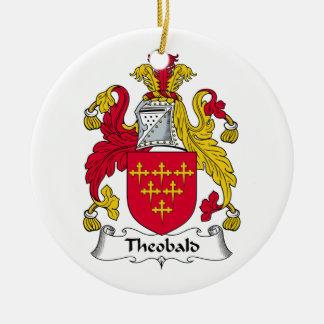 Theobald Family Crest Ceramic Ornament