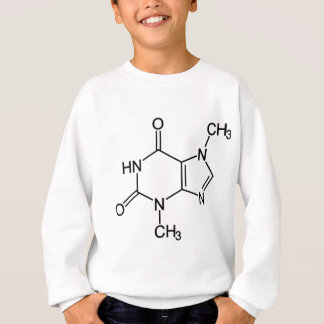 Theobromine Chocolate Molecule Chemical Diagram Sweatshirt