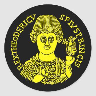 Theoderic the Great Classic Round Sticker