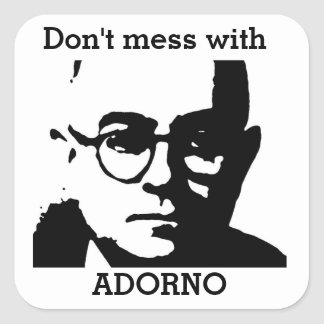 Theodor Adorno Square Sticker