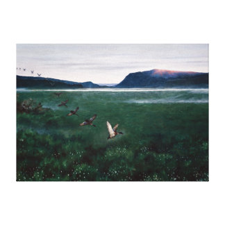 Theodor Kittelsen The Twelve Wild Ducks Canvas Print