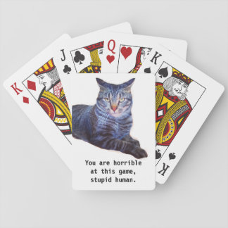 Theodore Encourages You Funny Cat Playing Cards