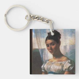 Theodore Gericault Art Single-Sided Square Acrylic Keychain