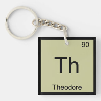 Theodore Name Chemistry Element Periodic Table Single-Sided Square Acrylic Keychain