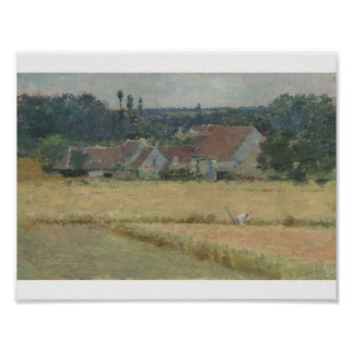 Theodore Robinson 1852 - 1896 FRENCH FARMHOUSE Poster