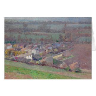 "Theodore Robinson ""Bird's eye view"" landscape art Card"