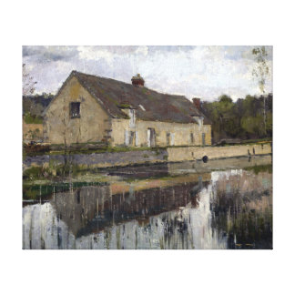 Theodore Robinson On The Canal Canvas Print