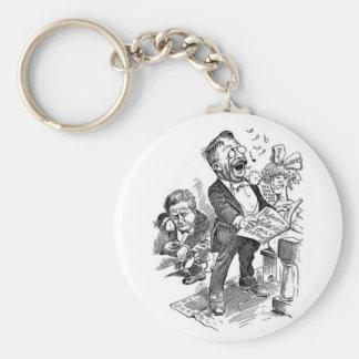 Theodore Roosevelt 1912 Political Cartoon Basic Round Button Keychain