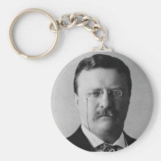 Theodore Roosevelt 26 Basic Round Button Keychain