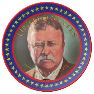Theodore Roosevelt 26th President Porcelain Plate