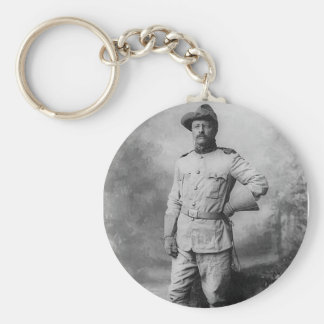 Theodore Roosevelt Basic Round Button Keychain