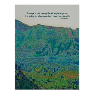 Theodore Roosevelt courage quote Poster