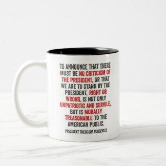 Theodore Roosevelt - Criticism of President Mug