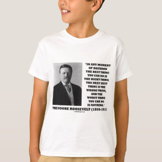 Theodore Roosevelt Decision Right Wrong Thing T-shirts